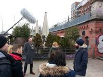 Streetart in Hamburg: Bei unserer Führung mit Sebastian Hartmann war auch ein Kamerateam dabei. Gefilmt wurde für Sessionline.com