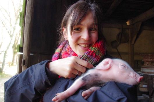 #MuseumSelfie - Ich mit einem Mini-Bentheimer Landschwein