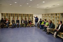 Die Gästeumkleidekabinen im Stadion des HSV