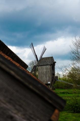 Bockwindmühle im Museumsdorf Cloppenburg. Foto: Wera Wecker