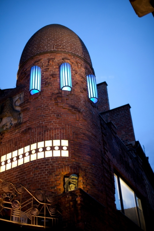 Außenansicht Paula Modersohn-Becker Museum bei Nacht. Foto: freiraumfotografie Bremen.