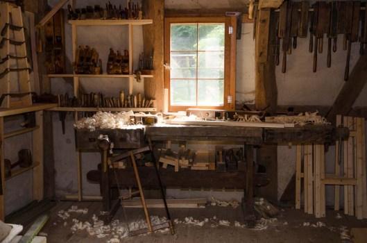 Alte Holzwerkstatt im Freilichtmuseum am Kiekeberg Foto: Wera Wecker