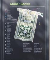 Großer Garten in Hannover Herrenhausen, Übersichtsplan mit Erläuterungen ©Hajotthu