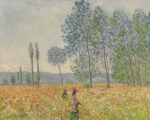Claude Monet: Unter den Pappeln, 1887, Privatsammlung, Scan: RECOM ART